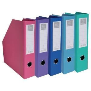 Porte-revues pliable Exacompta - dos 7 cm - coloris assortis - boîte de 10