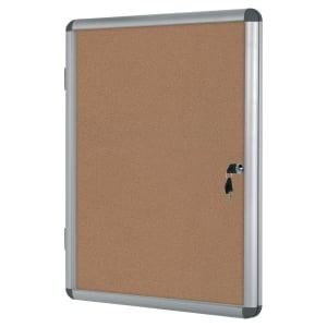 Vitrina para interior BI-OFFICE de vidro com fundo de corcho para 9 folhas A4