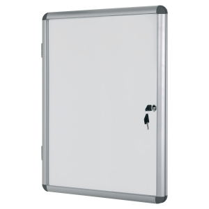 VITRINE INTERIEUR A PORTE BATTANTE FOND MAGNETIQUE BI-OFFICE 6 FEUILLES A4
