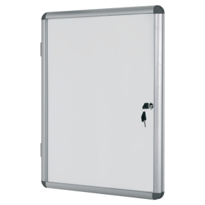 VITRINE INTERIEUR A PORTE BATTANTE FOND MAGNETIQUE BI-OFFICE 9 FEUILLES A4