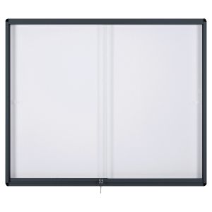 Vitrina para interior BI-OFFICE de vidro com fundo magnético para 15 folhas A4