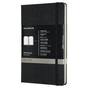 Moleskine notitieboek Pro Collection, harde omslag, groot formaat, 240 pagina s