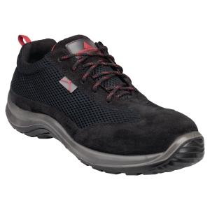 Paire de chaussures basses Asti S1P noires/rouges P 42