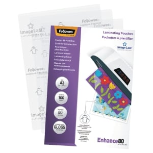 Pack de 100 fundas para plastificar en formato A3 FELLOWES