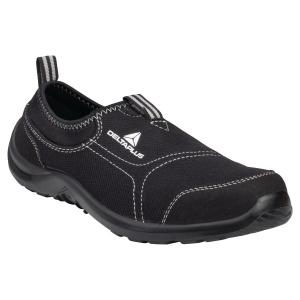 Deltaplus Miami Black Slip On safetry Shoes Black - Size 46