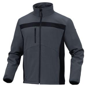 Deltaplus Lulea2 Softshell bunda, velikost XXL, barva šedá/černá