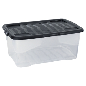 Strata storage box 42L clear