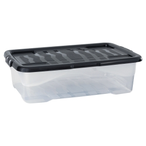 Strata storage box 30L clear