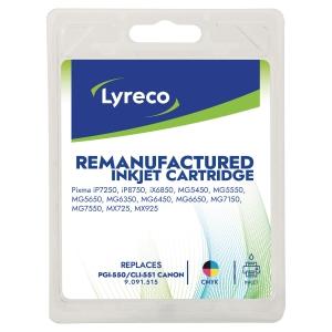 Tinte Lyreco komp. mit Canon PGI550XL / CLI551, Inhalt: 11ml, 4farbig