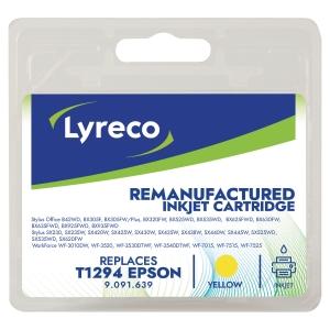Cartouche jet d encre remanufacturée Lyreco pour Epson t1294 jaune