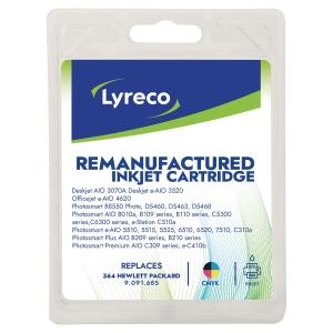 Pack de 4 cartouches jet d encre remanufacturées Lyreco pour HP 364 noir et cmj
