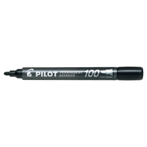Permanentmarker Pilot SCA-100-B, Rundspitze, Strichstärke: 1mm, schwarz