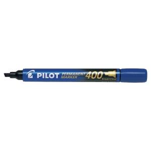 Pilot SCA 400 permanente marker beitelpunt blauw