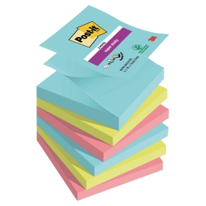 Karteczki samoprzylepne Post-it Super Sticky Z-Notes, Miami, 76x76mm, 6x90k