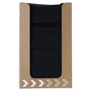 Duni dispenser met zwarte servetten 20 x 20 cm - pak van 100