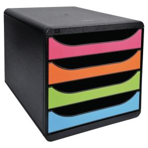 Module de classement Exacompta Big Box - 4 tiroirs - coloris assortis