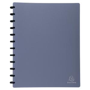 Protège-documents amovible Exacompta - 30 pochettes - bleu métal