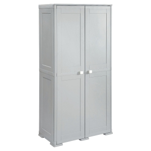 KIS CUPBOARD WITH 4 SHELVES 1.82M GREY