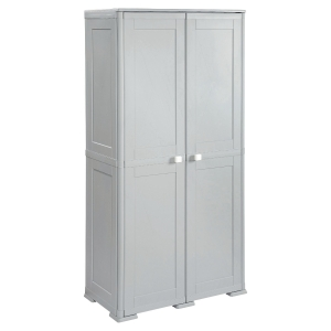 KIS CUPBOARD W/8 HALF-SHELVES 1.82M GRY