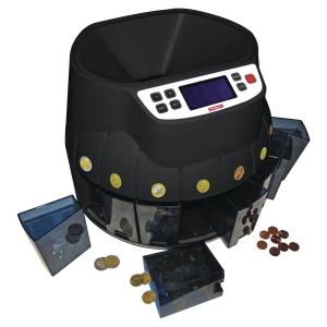 Contador e classificador de moedas euro RESKAL fabricado em plástico ABS