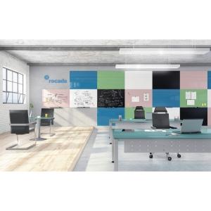 Rocada randloos whiteboard 75x115cm blauw