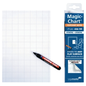 Flippoverblokk Legamaster, Magic Chart Note, rutet, A4