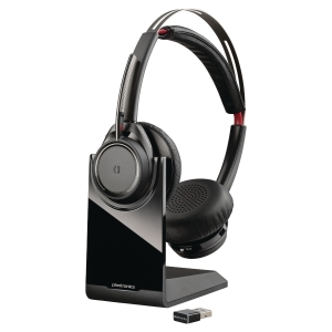 Headset Plantronics Voyager Focus headset + stativ