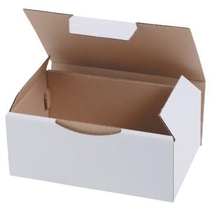 Boite d expédition éco 250 x 150 x 100 mm blanc - paquet de 50