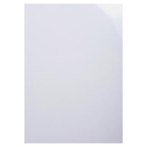 Pack de 100 cubiertas para encuadernar formato A4 GLOSSY CHROME blanco EXACOMPTA