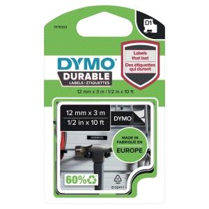 Dymo D1 páska, bílá/černá, rozměr 12 mm
