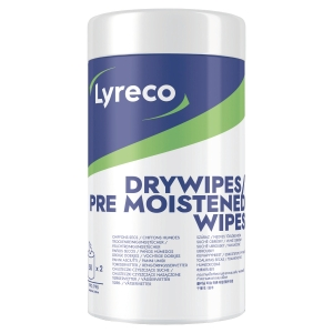 Renseservietter Lyreco Wet and Dry pakke 2 x 50 stk.