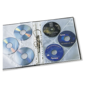 Pack de 10 fundas multitaladro para 3 CD/DVD - polipropileno