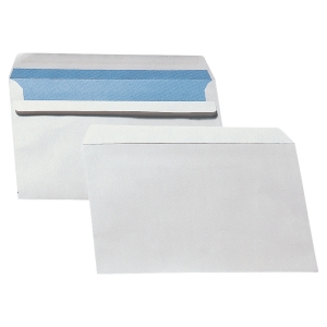 Caixa 500 envelopes brancos LYRECO papel offset. Dim: 162 x 229 mm