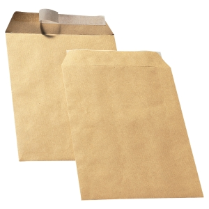 LYRECO MANILLA C4 PEEL AND SEAL PLAIN ENVELOPES 90GSM - BOX OF 250