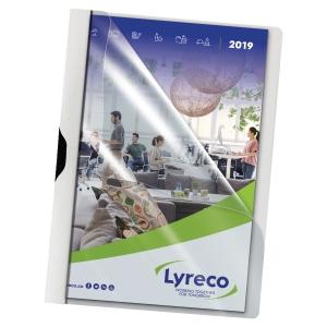 Lyreco fém-klippes mappa, fehér, 30 lap, 5 darab/csomag