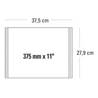 CONF. 2000 MODULI CONTINUI 375MM X11   1 COPIA BIANCO 60 G/MQ - BANDE STACCABILI