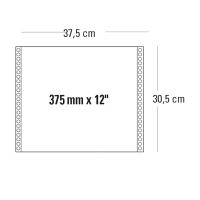 CONF. 2000 MODULI CONTINUI 375MM x 12   1 COPIA BIANCO 60 G/MQ