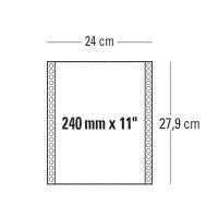 CONF. 2000 MODULI CONTINUI 240MM x 11   1 COPIA BIANCO 60 G/MQ BANDE STACCABILI