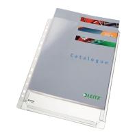BUSTE A PERFORAZIONE UNIVERSALE LEITZ IN PVC CON SOFFIETTO SENZA LEMBO - CONF.10