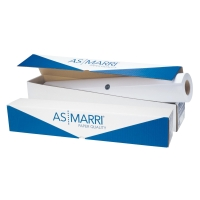 ROTOLO CARTA PLOTTER BIANCA OPACA J.90S AS MARRI 90 G/MQ - 91,4 CM x 50 M