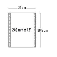 CONF. 2000 MODULI CONTINUI 240MM x 12   60 G/MQ 1 COPIA BIANCO BANDE STACCABILI