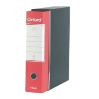 REGISTRATORE OXFORD F.TO COMMERCIALE 23x30x8CM IN CARTONE ROSSO CON CUSTODIA
