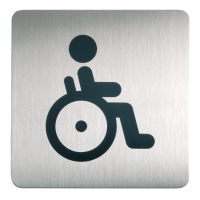 Targa con simbolo WC disabili Durable, 150x150 mm (4959-23)
