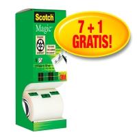 NASTRO ADESIVO INVISIBILE SCOTCH® MAGIC™ 19MMx33M: OFFERTA 7+1GRATIS