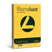 RISMA 125 FOGLI CARTA RISMALUCE FAVINI FORMATO A4 200 G/MQ COLORI ASSORTITI