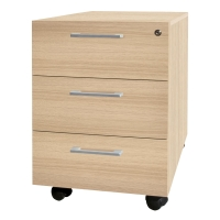 CASSETTIERA MECO OFFICE WOOD 3 CASSETTI ROVERE