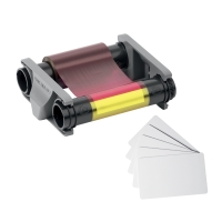 KIT DI STAMPA DURACARD ID 300: NASTRO COLORI + 100 TESSERE IN PVC DA 0,76 MM