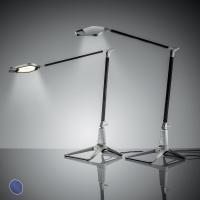 LAMPADA SMART LED DA TAVOLO LEITZ STYLE BLU TITANIO