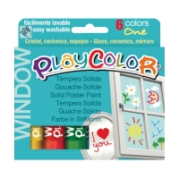 TEMPERA SOLIDA IN STICK PLAYCOLOR COLORI BRILLANTI CONF. 6