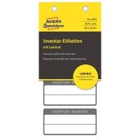 ETICHette INVENTario 60X30MM Autoplastificate AVERY - Conf. 40